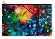 Abstract Landscape Colorful Contemporary Painting By Megan Duncanson Brilliance In The Sky Carry-all Pouch by Megan Duncanson