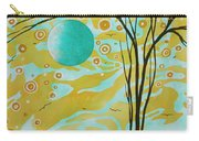 Abstract Landscape Painting Animal Print Pattern Moon And Tree By Madart Carry-all Pouch
