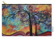 Abstract Landscape Tree Art Colorful Gold Textured Original Painting Colorful Inspiration By Madart Carry-all Pouch