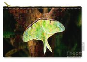 Abstract Luna Moth Painterly Carry-all Pouch