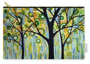 Abstract Modern Tree Landscape Spring Rain By Amy Giacomelli Carry-all Pouch