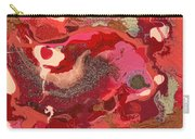 Abstract - Nail Polish - Love Carry-all Pouch by Mike Savad
