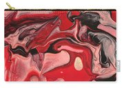 Abstract - Nail Polish - Raspberry Nebula Carry-all Pouch by Mike Savad