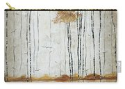 Abstract Neutral Landscape Pond Reflection Painting Mystified Dreams I By Megan Ducanson Carry-all Pouch