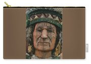 Abstract Of Wooden Indian Head Carry-all Pouch
