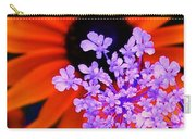 Abstract Orange And Purple Flower Carry-all Pouch