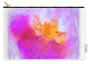 Abstract Orchid Pastel Carry-all Pouch by Antony McAulay