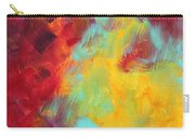 Abstract Original Painting Colorful Vivid Art Colors Of Glory I By Megan Duncanson Carry-all Pouch