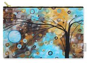 Abstract Painting Chocolate Brown Whimsical Landscape Art Baby Blues By Madart Carry-all Pouch