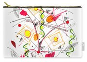 Abstract Pen Drawing Fifty-five Carry-all Pouch
