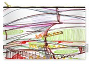 Abstract Pen Drawing Forty-five Carry-all Pouch
