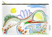 Abstract Pen Drawing Forty-four Carry-all Pouch