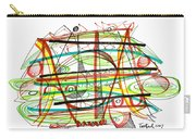 Abstract Pen Drawing Forty-seven Carry-all Pouch