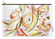 Abstract Pen Drawing Forty-six Carry-all Pouch