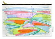 Abstract Pen Drawing Forty-three Carry-all Pouch