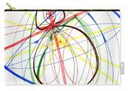 Abstract Pen Drawing Seventy-four Carry-all Pouch