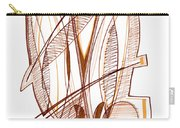 Abstract Pen Drawing Sixty-four Carry-all Pouch
