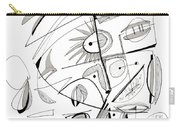 Abstract Pen Drawing Sixty-seven Carry-all Pouch