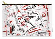 Abstract Pen Drawing Thirty-nine Carry-all Pouch