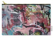 Abstract Pink Blue Painting Carry-all Pouch
