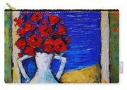 Abstract Poppies By The Sea Carry-all Pouch
