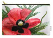 Abstract Poppy Carry-all Pouch
