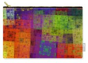 Abstract - Rainbow Bliss - Fractal - Square Carry-all Pouch