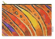 Abstract Rainbow Tiger Stripes Carry-all Pouch by Pixel Chimp
