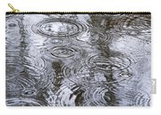 Abstract Raindrops Carry-all Pouch by Christina Rollo
