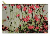 Abstract Red Flowers Carry-all Pouch
