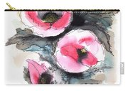 Abstract Red Poppies Carry-all Pouch