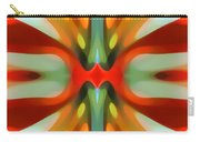 Abstract Red Tree Symmetry Carry-all Pouch by Amy Vangsgard