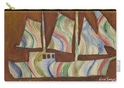 Abstract Sailboat Carry-all Pouch