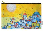Abstract Santorini - Oia Before Sunset Carry-all Pouch by Ana Maria Edulescu