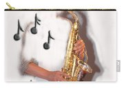 Abstract Saxophone Player Carry-all Pouch