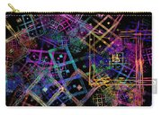 Abstract Squares Pattern Fractal Flame Carry-all Pouch by Keith Webber Jr