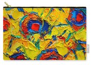 Abstract Sunflowers Carry-all Pouch