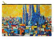 Abstract Sunset Over Sagrada Familia In Barcelona Carry-all Pouch