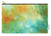 Abstract Textured Decorative Art Original Painting Gold And Teal By Madart Carry-all Pouch