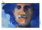 Abstract Thinking Man Portrait Carry-all Pouch