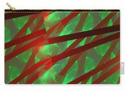 Abstract Tiled Green And Red Fractal Flame Carry-all Pouch by Keith Webber Jr