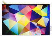 Abstract Triangles And Texture Carry-all Pouch