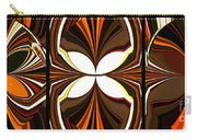 Abstract Triptych - Brown - Orange Carry-all Pouch