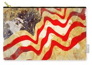 Abstract Usa Flag Carry-all Pouch