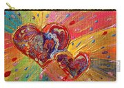 Abstract Valentines Love Hearts Carry-all Pouch by Julia Apostolova