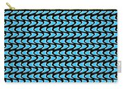 Abstract Waves On A Black Background Carry-all Pouch
