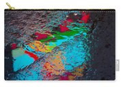 Abstract Wet Pavement Carry-all Pouch