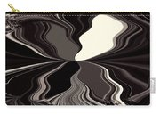 Abstract Wings In Black Carry-all Pouch