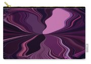 Abstract Wings In Plum Carry-all Pouch