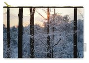 Abstract Winter Sunset Carry-all Pouch